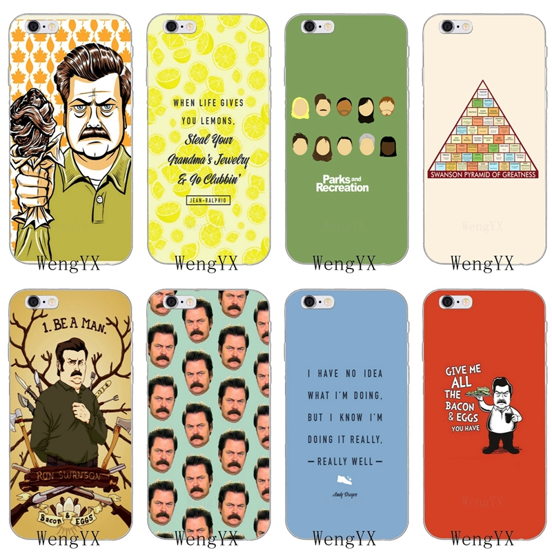 cb62db4efc9 US $1.99 |funny Parks and Recreation Slim silicone Soft phone case For  iPhone 4 4s 5 5s 5c SE 6 6s plus 7 7plus 8 8plus X-in Half-wrapped Cases  from ...