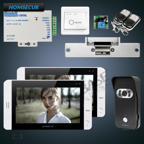 HOMSECUR Video Door Phone Intercom System + 7 LCD Monitor with Video Recording, Photo Taking and OSD Menu