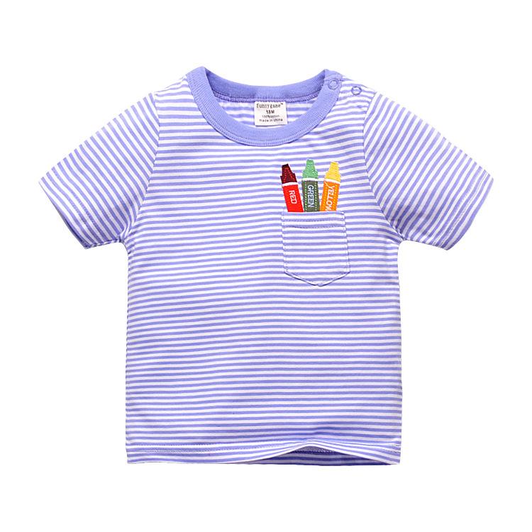 HTB1TWDKPVXXXXbsXVXXq6xXFXXXg - 1-6T 100% Cotton Kids Baby T-shirt Tops Boys Girls Tee Striped T Shirt Children Tshirt Toddlers Baby Clothing 2017 Child Clothes