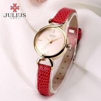 Phụ nữ julius cá sấu đồng hồ thời trang da 5 màu thạch anh ladies ăn mặc đồng hồ nữ đồng hồ analog quartz nhật bản giờ ja-694