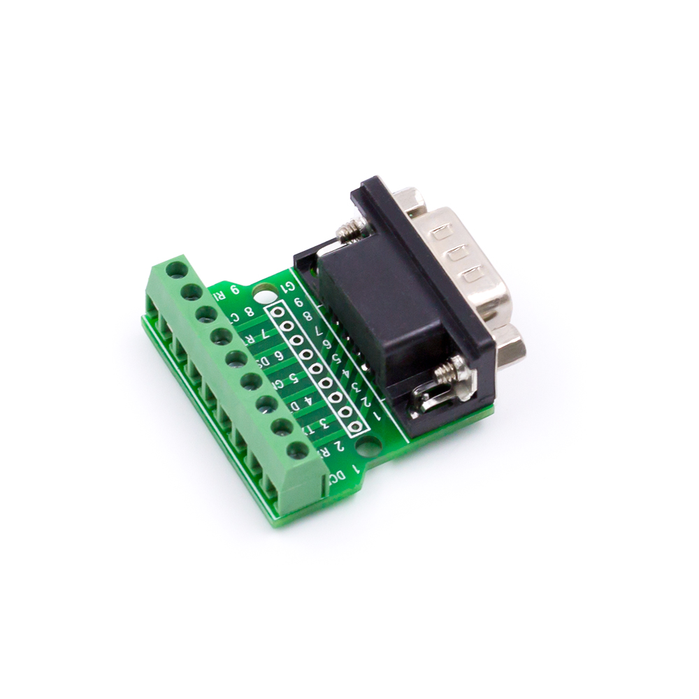 Db9 Male Header Transfer Screw Connection Terminal 9 Pin Hole Headers On Mini Circuit Board Rs232 Rs485 Converter Na421