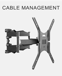 Image 5 - BEISHI 6 Arms TV duvar montaj aparatı tam hareket Tilt TV braketi 32  65 için takım elbise TV ekranı yüklemek 40kg VESA 400x400mm