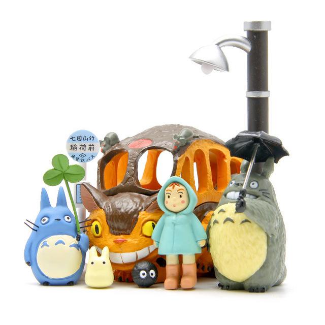 8Pcs Totoro Figures Toys