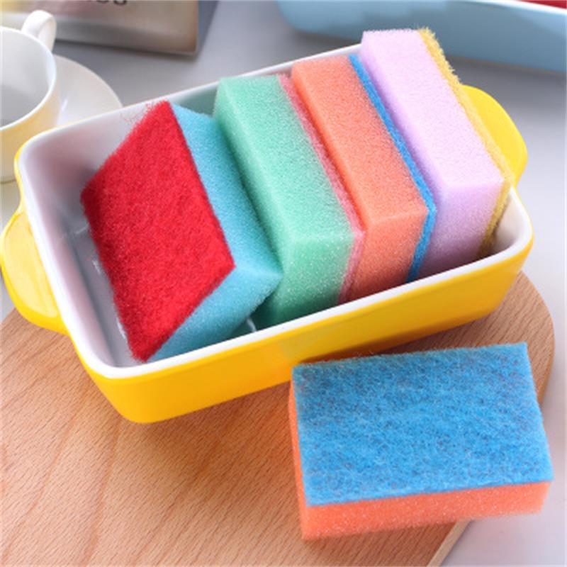 Image 4 - 10Pcs Candy colored Decontamination Powerful Colorful Nano Cleaning Magic Sponge Multipurpose Goods Random Color-in Sponges & Scouring Pads from Home & Garden