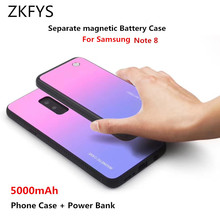 ZKFYS 5000mAh Wireless Magnetic Ultra Thin Fast Charger Battery Case For Samsung Galaxy Note 8 Portable Power Bank