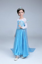 Kids Summer Girl Dress Frozen cartoon Toddler Elegant Pageant wedding dresses clothes Cosplay Formal Party costome princess
