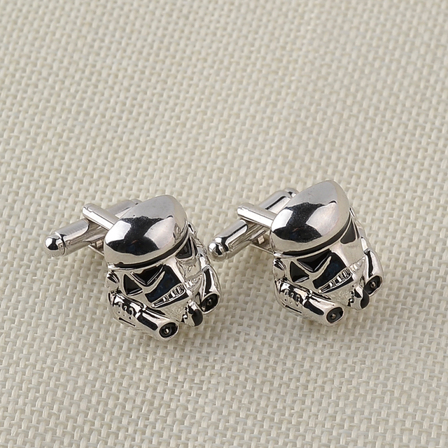 Classic Star Wars Design Silver Plated Vintage Cufflinks