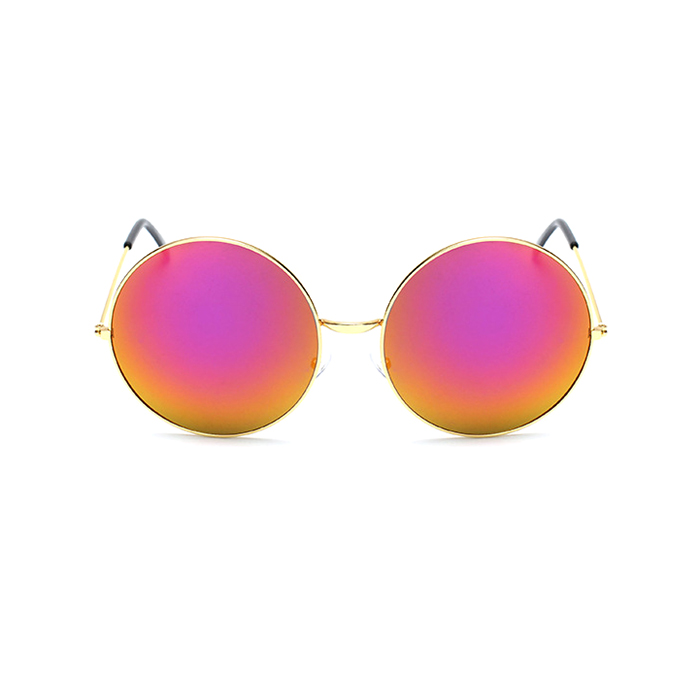 Übergroße Runde Kreis Rahmen Spiegel Sonnenbrille Lila Super Frauen ...