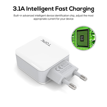 3-Port USB Charger with EU Plug