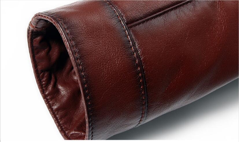 HTB1TWELwiAnBKNjSZFvq6yTKXXaw AYUNSUE Men's Genuine Leather Jacket Real Cow Leather Plus Size Cowhide Jackets for Men Natural Lamb Fur Coat L178101 KJ841