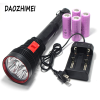 High Power Portable 4*XHP70 LED Diving Flashlight 20000LM Scuba Dive Torch Light Super Bright Lamp Use 4x 26650 battery