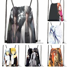 Custom Gintama Anime Drawstring Backpack Bag Cute Daypack Kids Satchel Black Back 31x40cm 180531 01 48