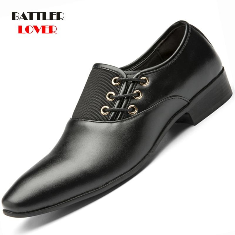 Big Size 38-48 Men Dress Shoes Quality Men Formal Shoes Lace-up Men