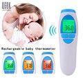 4 в 1 Аккумуляторная Termometro Цифровой ЖК Детские Термометр Ушной Термометр Температура Лоб Инфракрасный ИК Для Младенцев Взрослый Термометра