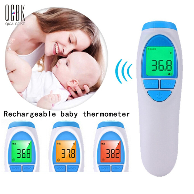 4 in 1 Rechargeable Termometro Digital LCD Baby Thermometer Ear Forehead Temperature Infrared IR For Infants Adult Thermometre