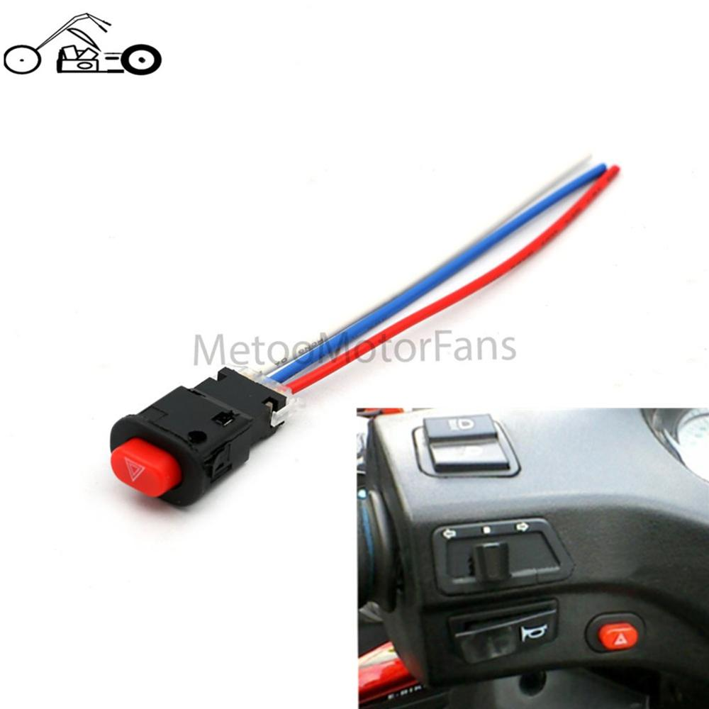 1pcs motorcycle switch hazard light switch button double flash 1pcs motorcycle switch hazard light switch button double flash warning emergency lamp signal flasher with 3 wires built in lock in motorcycle switches from cheapraybanclubmaster Choice Image