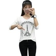 Poleras De Mujer Moda 2016 Harajuku T-Shirt Brand T Shirt Women Fashion Korean Tee Shirt Femme Long Sleeve Tshirt Woman Clothing