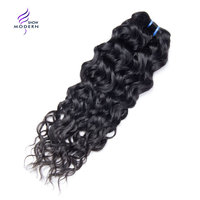 Modern Show Hair Brazilian Water Wave Weave Bundles 100% Human Hair Extensions 1 3 4 Piece Only Non Remy Hair 10 28 Inch Can Buy