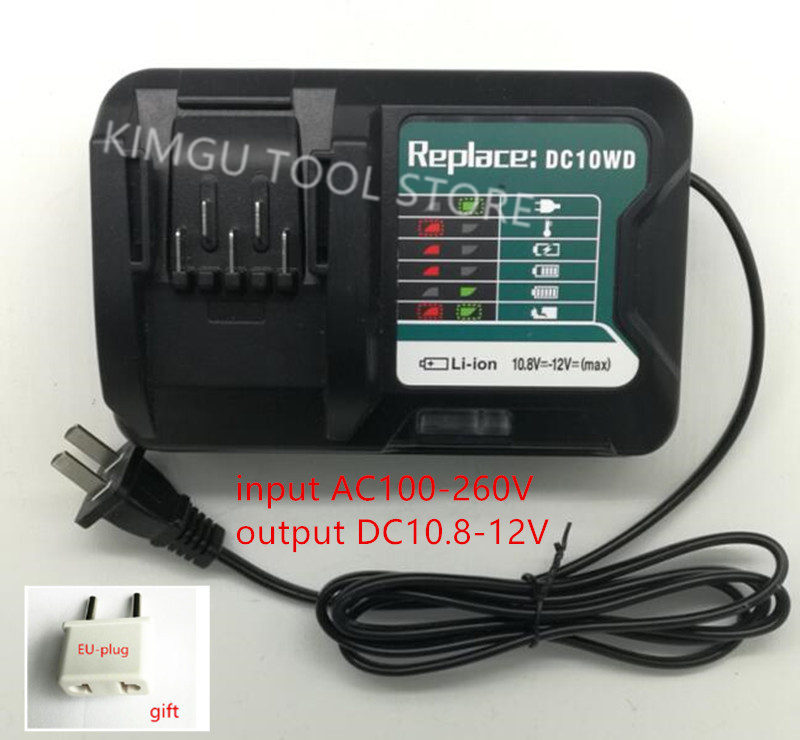AC100-260V DC10WD Charger Replace for MAKITA 10.8V 12V BL1016  BL1040B BL1015B BL1020B BL10DC10SA CL107FDZ CL107FDWY CL107DWMAC100-260V DC10WD Charger Replace for MAKITA 10.8V 12V BL1016  BL1040B BL1015B BL1020B BL10DC10SA CL107FDZ CL107FDWY CL107DWM