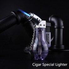 Компактная Бутановая струйная зажигалка, турбозажигалка, ветрозащитная распылительная Зажигалка 1300 с, без газа, бутылка для вина