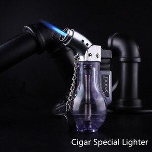 Image 1 - Компактная Бутановая струйная зажигалка, турбозажигалка, ветрозащитная распылительная Зажигалка 1300 с, без газа, бутылка для вина