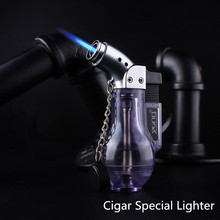 Free Shipping Compact Butane Jet Lighter Turbo Torch Fire Windproof Spray Gun 1300 C NO GAS Wine Bottle