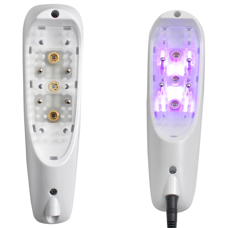 1PC 2017 Brand New 3in1 Laser+LED light Hair regrowth Micro current Hair massage Hair Growth Combs laser hair growth comb 6 color led light micro current for hair massage remove scurf n repair hair hair loss