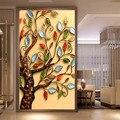 Незавершенной DIY 5D Алмазов Картина Вышивки Крестом Круглый Бриллиант Вышивка Богатых дерево Капли Apple Алмазов Мозаика для Домашнего декора