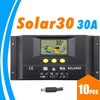 10PCS 30A Solar Controller PV panel Battery Charge 12V 24V system Home indoor use SOLAR30 SOLAR 30 - sale item Electrical Equipment & Supplies