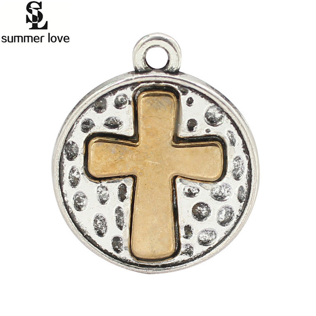 40 pieces round religious charms wholesale bronce cross charms 40 pieces round religious charms wholesale bronce cross charms pendants for religious christian jewellery making aloadofball Gallery