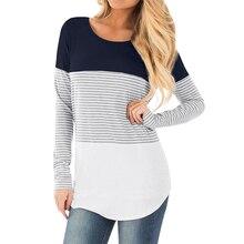 Spring maternity nursing tops Striped Patchwork Pregnancy T Shirt Causal Long Sleeve Breastfeeding Tshirts for Pregnant Women