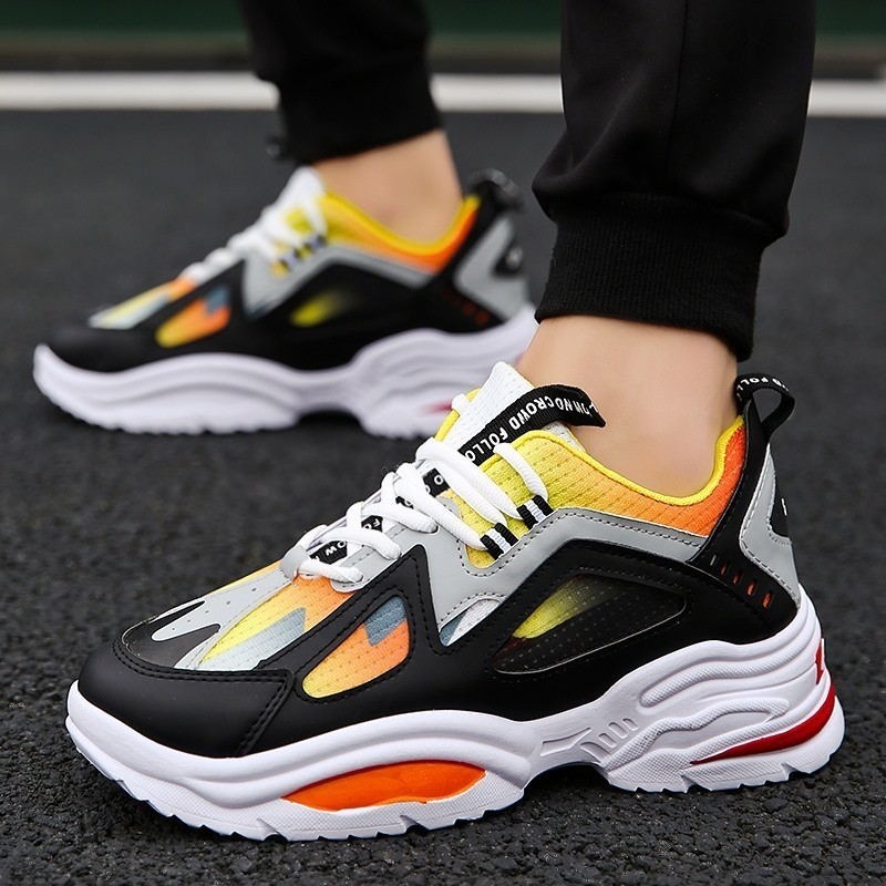 Fashion Colorblock Brand Big Size Mens Casual Shoes Breathable Comfortable Sneakers Light Male Shoes High Quality Homme Zapatos
