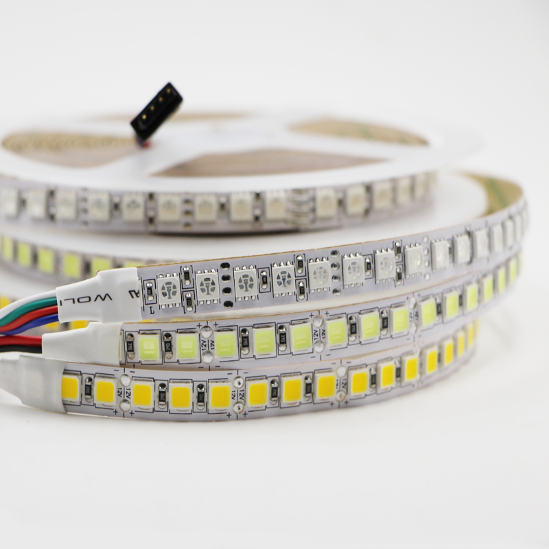 DC12V 5m 5054 SMD RGB LED Strip Light 120LED M Not waterproof Flexible Light Ribbon Double