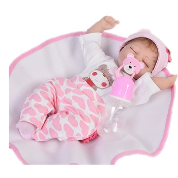 42cm Silicone Reborn Baby Doll Toys sleeping bebe Toddler 17icn lifelike High Quality Birthday Gift Play House Toy bebe doll