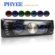 1 Din Auto Radio Bluetooth Autoradio Doppio Schermo Stereo Audio MP3 ID3 WMA USB TF A2DP Vivavoce ISO Unità Principale PHYEE SX-MP33300BT