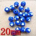 Alta calidad azul perlas de resina sueltas gumball ronda chunky granos DIY perlas raya sólido para accesorios de la joyería al por mayor!