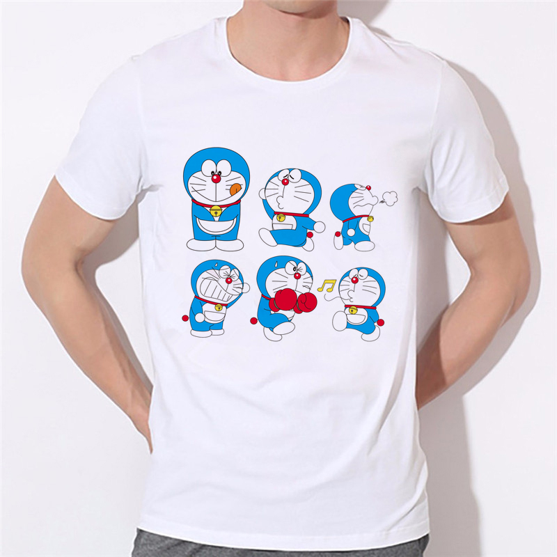 Men T Shirt Brand Summer 2018 Short Sleeve T-Shirts Cartoon Doraemon Boy anime Clothes 10N-1#