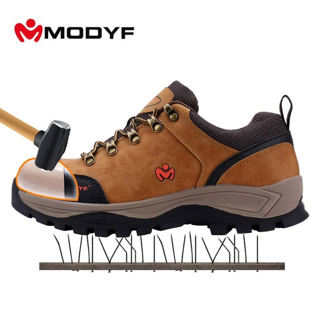 Modyf Safety Work Shoes For Men Steel To Cap Crashproof Boots Seed