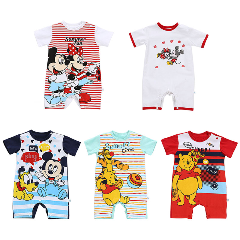 Summer New Mickey Minnie Baby Clothes Baby Romper Infant Girls Cotton Newborn Costume Baby Pajama Boys Rompers For 0-24M