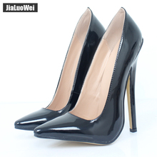 Купить с кэшбэком jialuowei Women 18cm Extreme High Heel Pumps Pointed Toe Sexy Fetish Stiletto Thin Heels Wedding Party Summer Unisex shoes