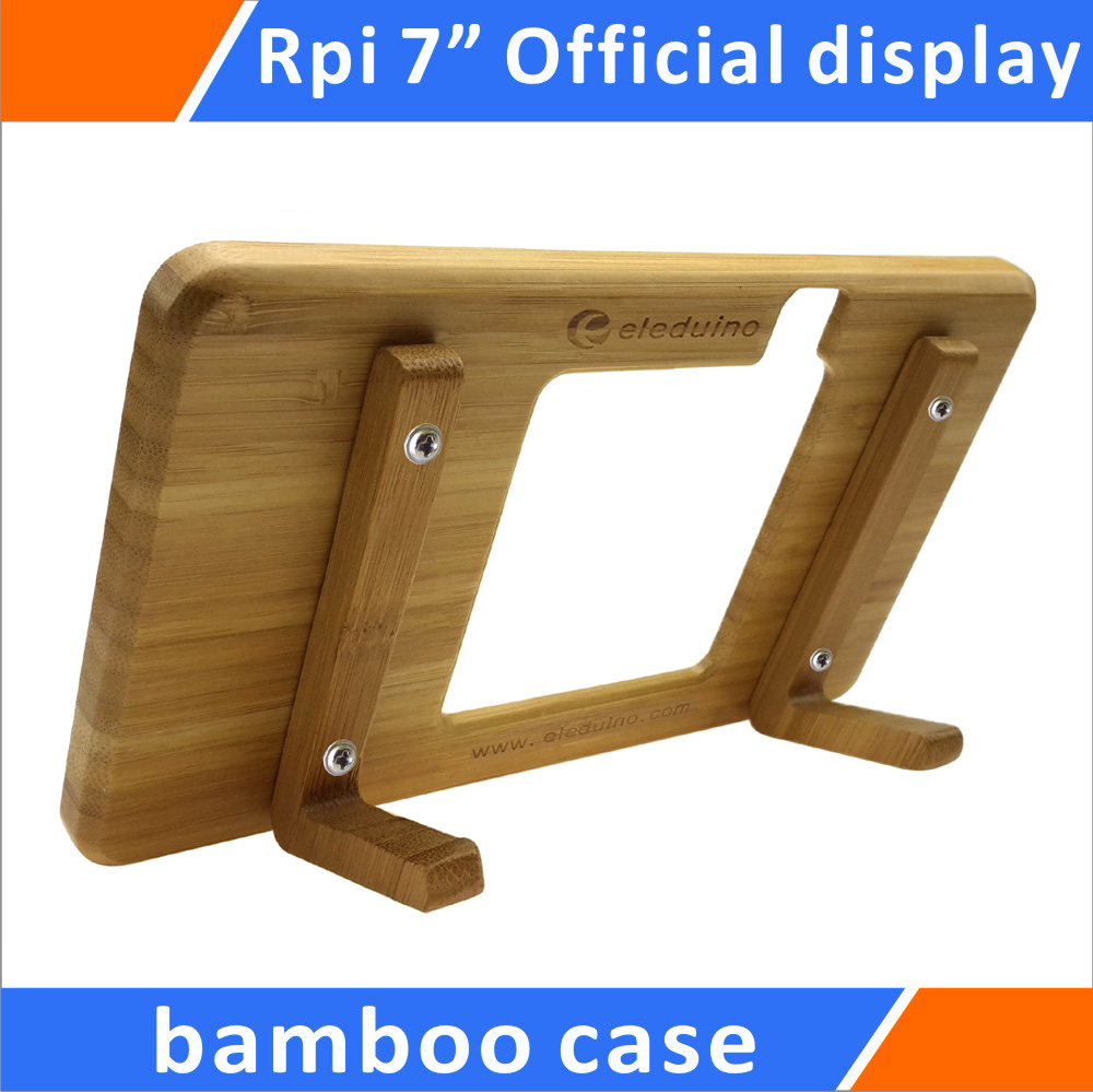 Raspberry Pi Official 7 Touchscreen Display Bamboo Case video devices pix e7 7 touchscreen display power cord