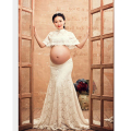 2016 New Maternity Dress for Photo Shoot White Lace Maxi Maternity Photography Props Long Dress for Pregnancy