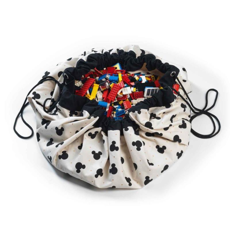 INS/Модная Детская сумка для хранения в виде мультяшных мышей и мышей из 3 стилей, плюшевые игрушки могут храниться как ковер - Цвет: black boy