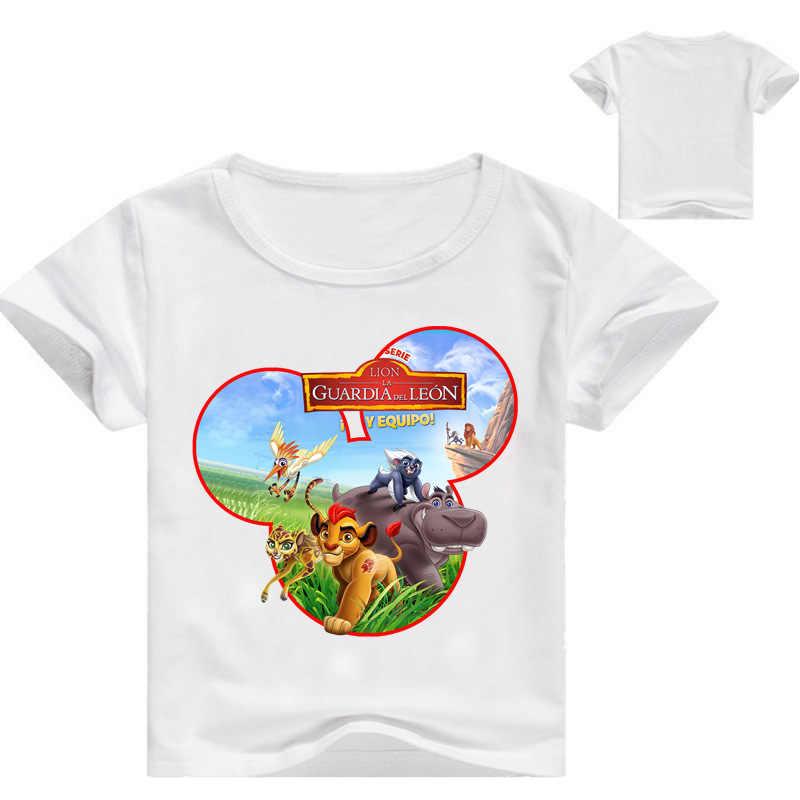 d9ea7492b7cf Summer top the Lion Children T shirts For Boys Girls white T-shirt Kids  Cotton