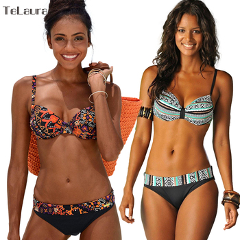 2018 New Sexy Mulheres de Biquíni Swimwear Empurrar Para Cima Maiô Maiô Plus Size Swimwear Biquinis Verão Beach Wear Swim Suit feminino