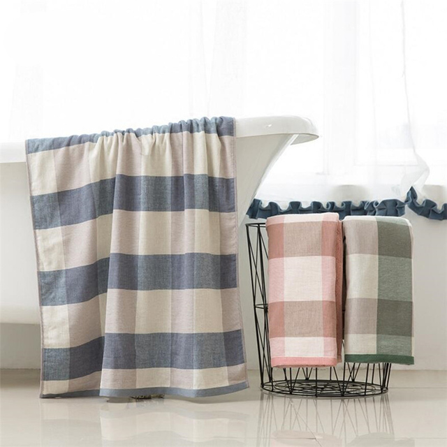 New Gauze Bath Towel Cotton Adult Children Bathroom Accessories Soft  Breathable Brief Fashion Wearable Fast Drying