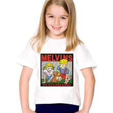Cartoon Print The Melvins Houdini Metal Rock Band Children Funny T-shirts Kids Summer Tees Boys/Girls Tops Baby Clothing,HKP799