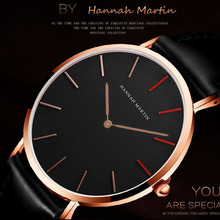 Hannah Martin Watch Top Brand Man Women's Watches Leather St