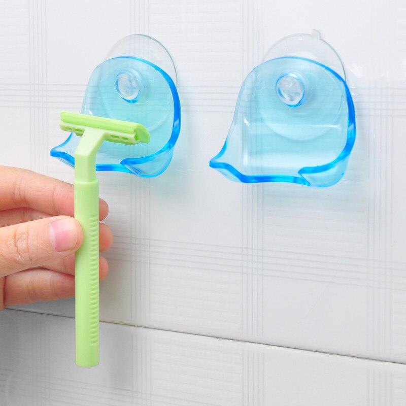 Badezimmerarmaturen Intelligent Super Saugnapf Gestochen Rack Rasierer Halter Saugnapf Lagerung Rasierer Rack Wand Haken Kleiderbügel Handtuch Sucker Badezimmer Zubehör Herausragende Eigenschaften