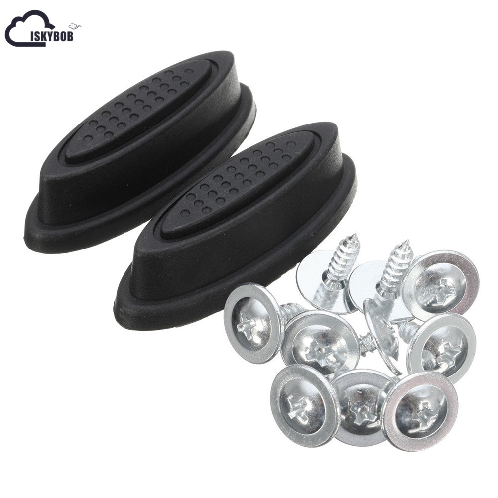 ISKYBOB 2X Replacement Plastic Luggage Stud Foot Feet Pad Black For Any Bags Kit Fashion